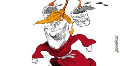 Caricatura de Trump