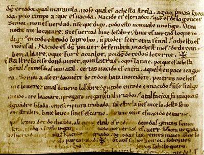 Página del códice manuscrito del Auto de los Reyes Magos
