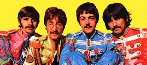 The Beatles en 'Sgt. Pepper's Lonely Hearts Club Band'.