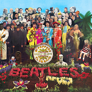 Portada 'Sgt. Pepper's Lonely Hearts Club Band'.