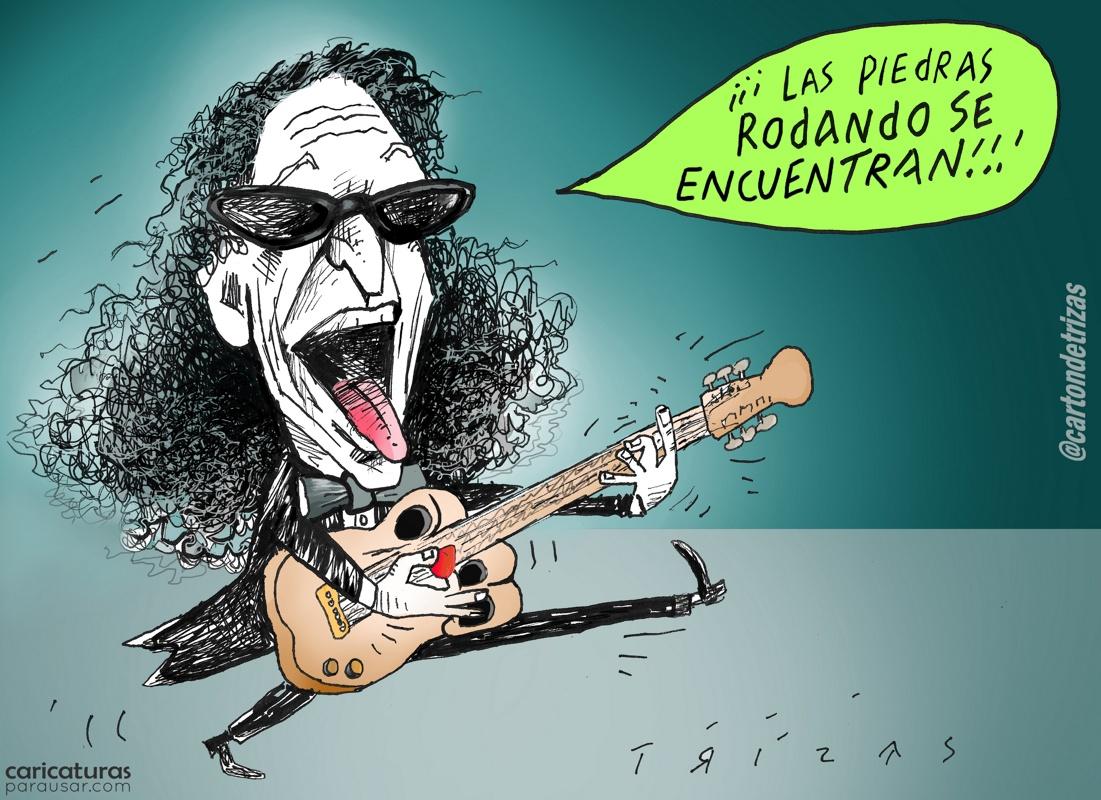 Alex Lora Cartón Caricatura Conservador