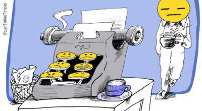 Caricatura sobre Emojis