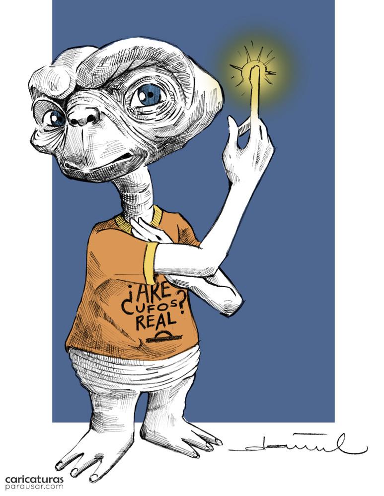 Caricatura ET