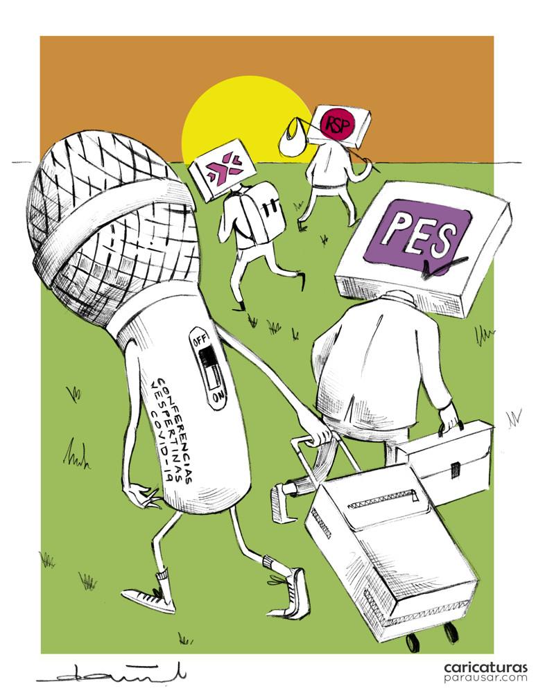 Cartón Registro Partidos Políticos Conferencias Vespertinas