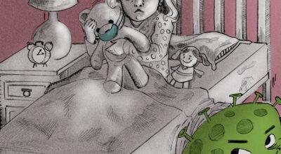 Cartón Cartón Caricatura Covid19 Niños