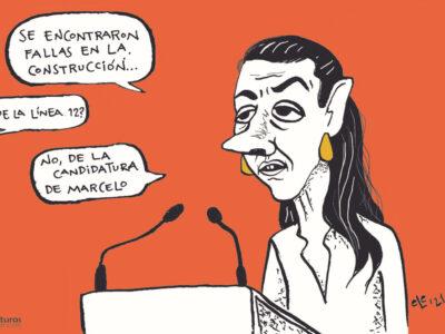 Cartón Caricatura Línea 12