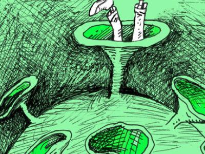 Caricatura Covid México